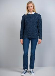 Lily Crewneck Aran Sweater