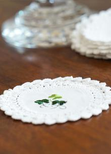Blarney Green Shamrock Doily Collection