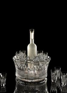 Waterford Crystal Lismore Diamond 12'' Vodka Chill Set