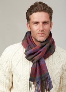 Long Lambswool Scarf Multicolor Check