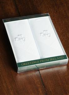 Irish Shamrock Men's Handkerchiefs Set of 2