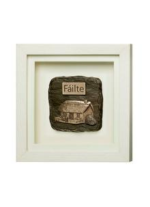 Failte Framed Bronze Plaque