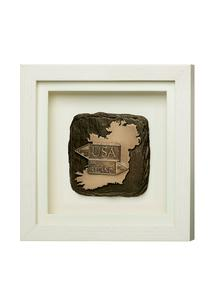 Road Signs Framed Bronze Ornament
