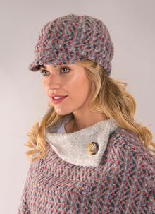 Newsboy Hat Connemara Light Gray