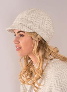 Newsboy Hat Dove Cream