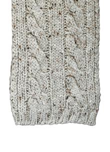 Wool Scarf Oatmeal Speckle