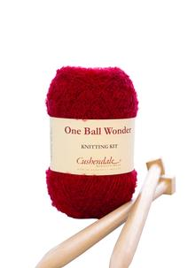 One Ball Wonder Knitting Kit Cherry