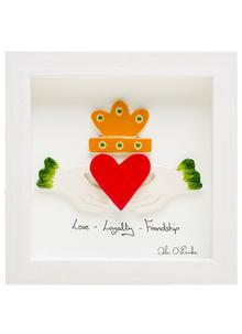 Irish Claddagh Framed Ceramic