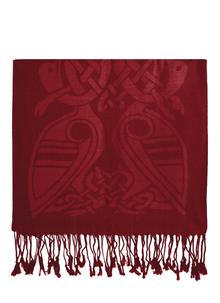 Wool Red Celtic Scarf