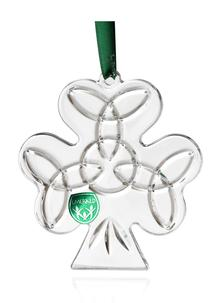 Emerald Crystal Shamrock Ornament