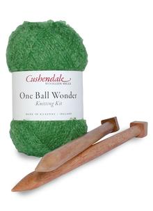 One Ball Wonder Knitting Kit Greengage