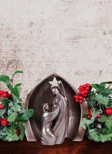 Holy Family Nativity Crib Ornament