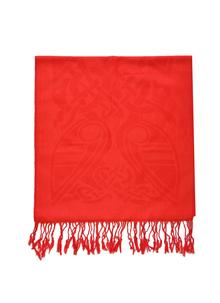 100% Pure New Wool Firey Red Celtic Scarf