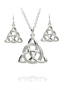 Trinity Pendant & Earrings Set