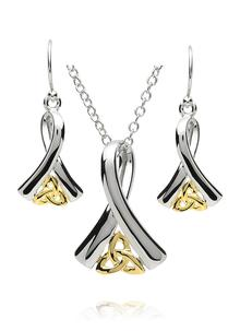 Ribbon of Life Pendant & Earrings Set