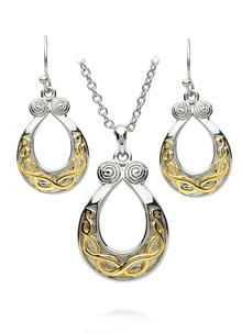 Triskelle Pendant & Earrings Set