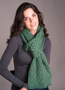 Plaited Scarf Green