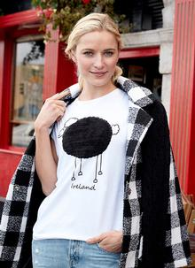 Plush Sheep Rolled Sleeve T-Shirt