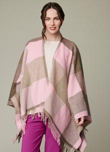Portarlington Pink Check Mini Serape