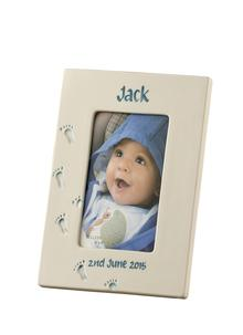 Precious Memories Personalized Frame in Blue