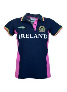 Women's Ireland Harp Polo Navy T-Shirt