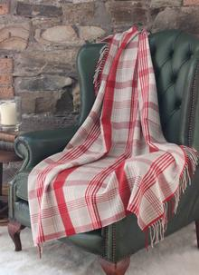 Red Check Lambswool Knee Throw