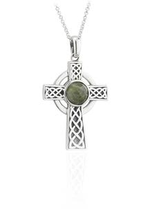 Sterling Silver Small Connemara Celtic Cross Pendant