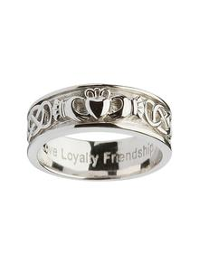 Sterling Silver Ladies Corrib Claddagh Ring