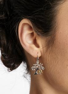 Celtic Tree Of Life Shamrock Earrings