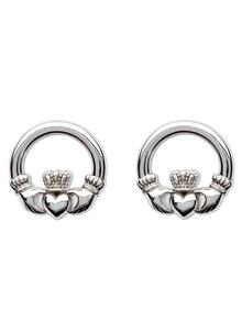 Sterling Silver Claddagh Stud Earrings