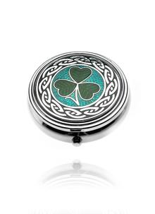 Celtic Shamrock Pillbox