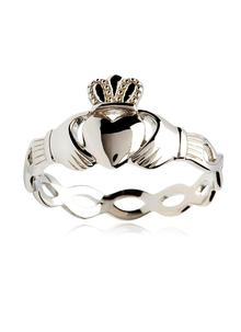 Sterling Silver Claddagh Weave Ring