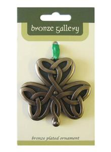 Shamrock Bronze Ornament