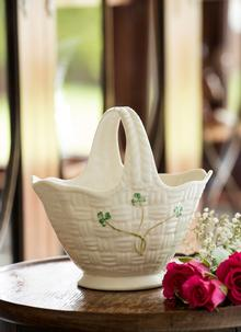 Shamrock Handled Basket