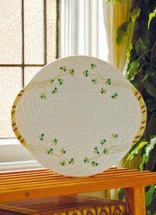 Belleek China Shamrock Serving Plate