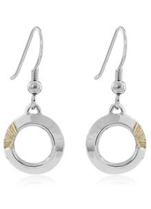Soilse Sterling Silver and Yellow Gold Vermeil Drop Earrings