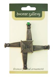 St. Brigid's Cross Bronze Ornament