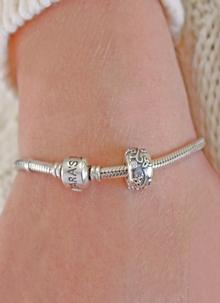 Sterling Silver Celtic Bead Bracelet