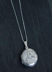 Sterling Silver Trinity Knot Locket Pendant
