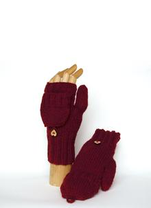 Mitten Knitting Kit Wine
