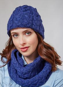 Supersoft Merino Wool Hat & Infinity Scarf Set - Ink Blue