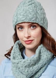 Supersoft Merino Wool Hat & Infinity Scarf Set - Seafoam Green