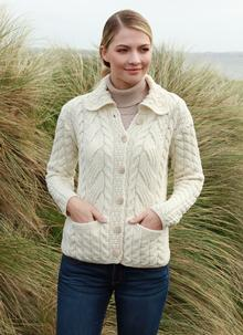 5827cfc5678 Supersoft Merino Wool Cable Cardigan