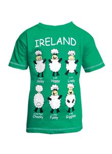 Happy Sheep Green Kids T-Shirt