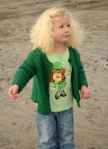 Green Girls Frilly Irish Leprechaun T-Shirt