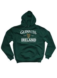 Unisex Guinness Hoodie Bottle Green