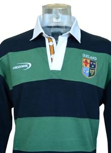Men's Ireland Rugby Striped Polo Shirt