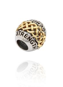 Sterling Silver & 14K Gold Strength Bead