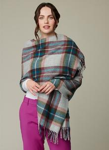 Teal Country Check Mini Serape