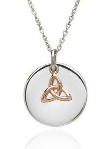 Disc Pendant With Trinity Knot Charm